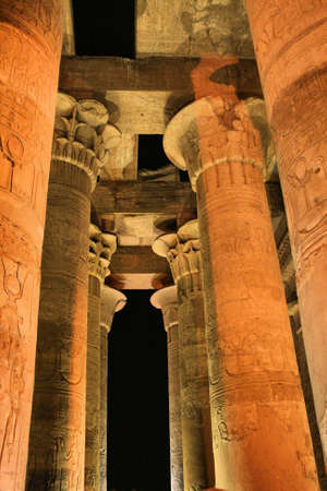 pharoah: Columns at Kom Ombo Temple