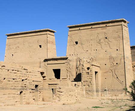 pharoah: Philae Temple Aswan Stock Photo