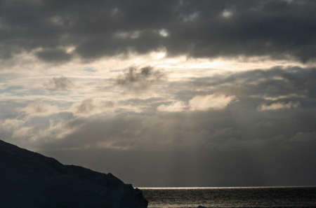 drake: Sunset over Drake Passage Stock Photo