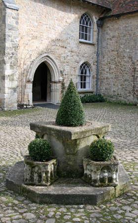 topiary: Topiary in courtyard