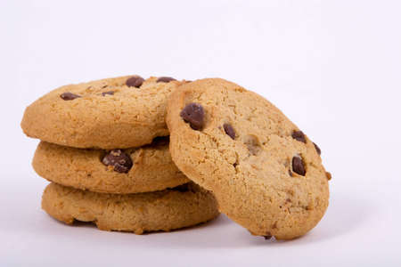 Chocolate Chip Cookies, in a nice tempting pile. Imagens - 632683