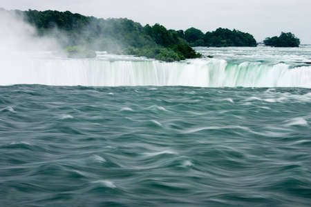Niagra Falls - view from the high end as the water rushes over