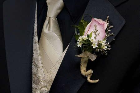 Tuxedo and boutineer