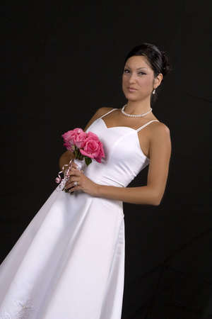 Bridal portrait over black background Stock Photo - 2011212