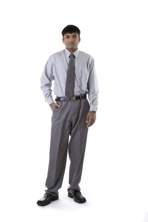 Male Model in business clothes over white background