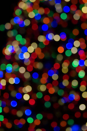 Blurred Christmas Lights, resulting in an abstract color circles