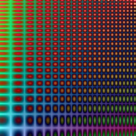 Color lined grid, computer created fractal art Imagens - 6218854