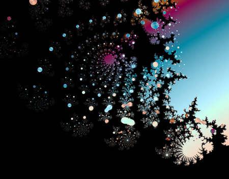 Fractal Night Sky - computer created fractal art Imagens - 6218873
