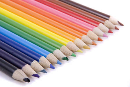 Colored pencils in a row Imagens - 6218848
