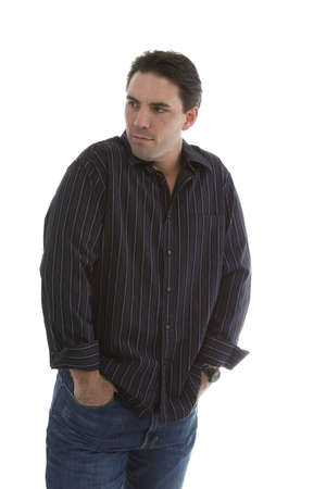 Male model in Casual clothes over white background Imagens - 6210588