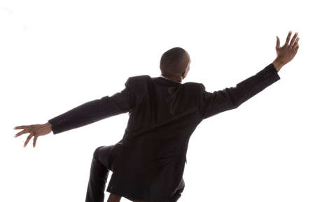 Adult African American Male in Business suit over a white background Imagens - 6210569