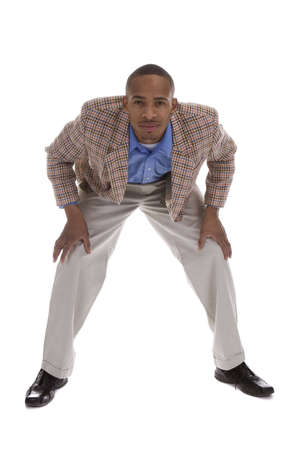 African American Male in sports coat over a white background