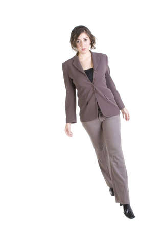 Female model in Business Casual clothes over white background Imagens - 6210592