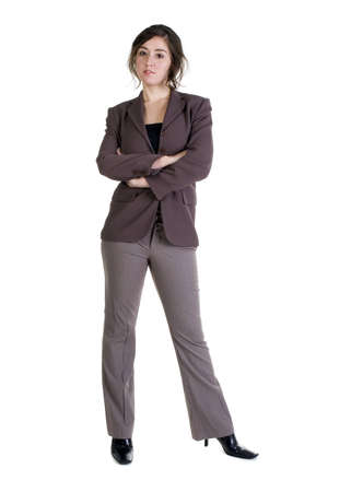 Female model in Business Casual clothes over white background Imagens - 8278443