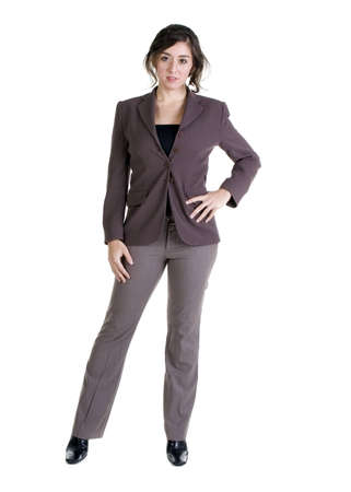 Female model in Business Casual clothes over white background Imagens - 8501177