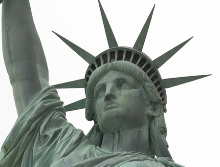 Statue of Liberty Close up on Face against white background Imagens - 17948025