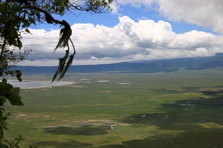 enclave: shot from the rim of Ngorongoro crater in Tanzania Stock Photo