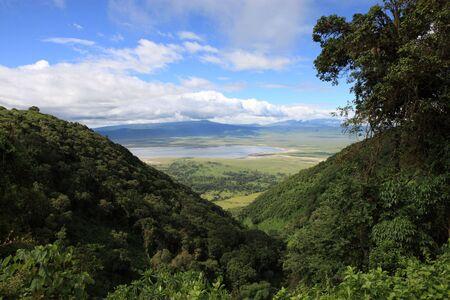 enclave: vieuw into Ngorongoro crater Tanzania from the rim