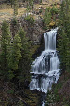 undine: Undine falls in Yellowstone National Park Stock Photo
