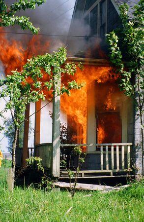 house on fire: HOUSE FIRE