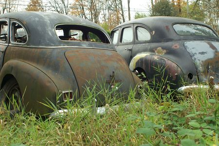 junk: TWO OLD REAR ENDS