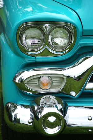 OLD TRUCK HEADLIGHT photo