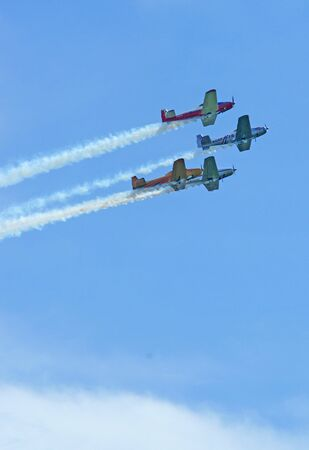 FOURPLANES IN FORMATION-69 Stock Photo