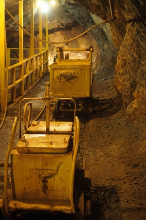 shafts: MINING WELLE-HONIG CART Lizenzfreie Bilder