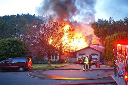 Haus in Brand