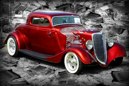 CUSTOM BURGUNDY HOT ROD