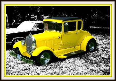 黄色のホットロッド