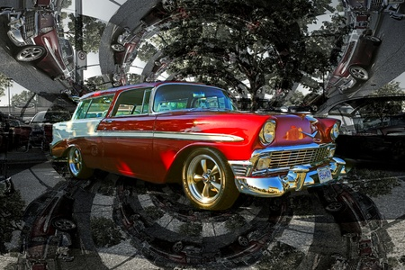 OLD CHEVY NOMAD ABSTRACT