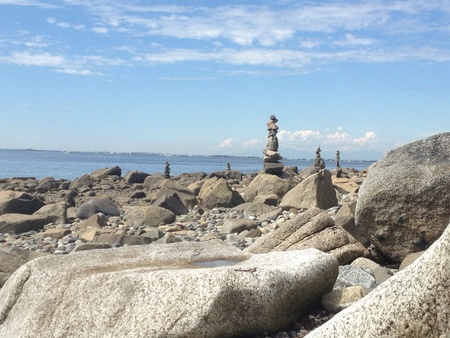 Taken at Cresent Beach where someone did some great rock stacking Imagens