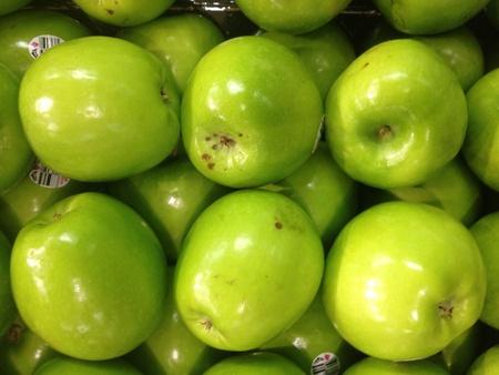 granny smith: Granny Smith green apples