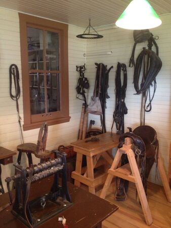 The old Saddle shop store.  Banco de Imagens