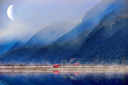 colour: Mountains in Pitt Meadows B.C.