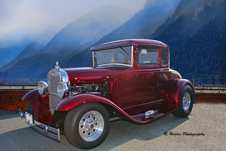 Ford hot Rod and the Cranberry Fields