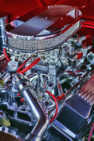 Chrome car Engine