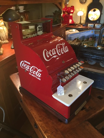 Old antique Coca Cola cash register