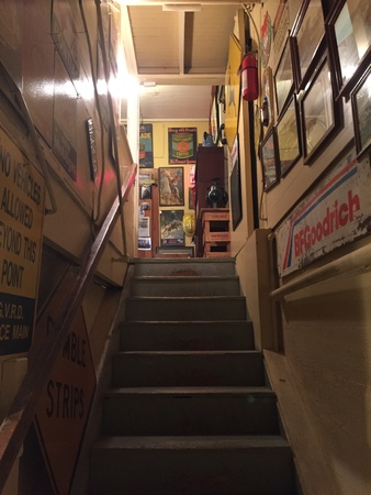 Stairway in antique store