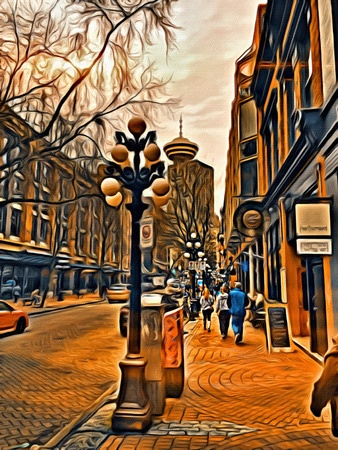 Downtown Gastown in Vancouver abstract photo