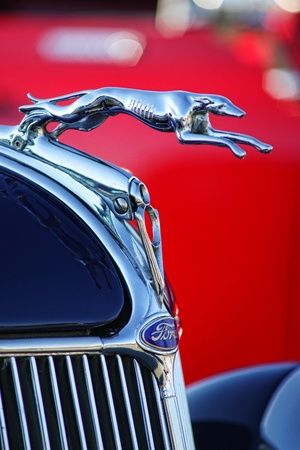 chrome: Great Ford Hood Ornament