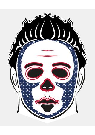American halloween horror mask vector