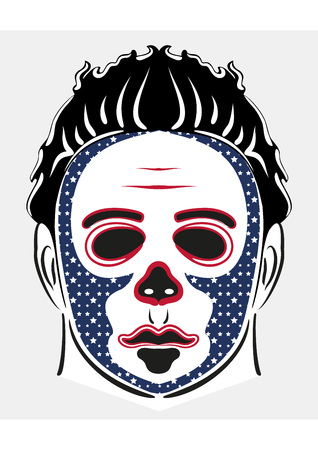 American halloween horror mask vector