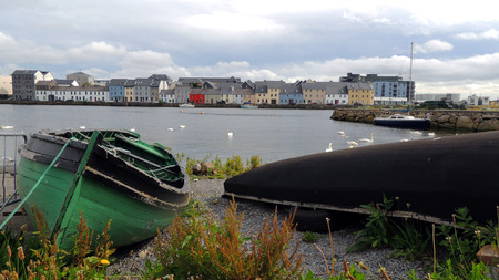 Boten op Galway Bay, Galway, Ierland