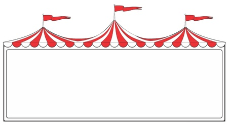 fairground: Three ring circus tent sign for advertising or promotion