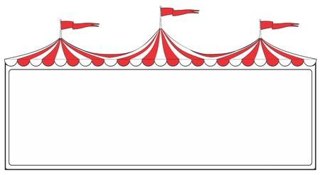 marquee sign: Tre anello segno tenda circo per pubblicit� o promozione
