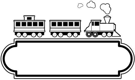 レトロ: マーキー スタイル記号理想的な旅行代理店または交通機関の鉄道関連事業