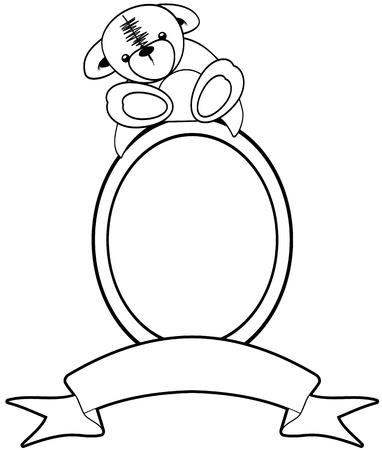 Teddy Bear frame or border illustration