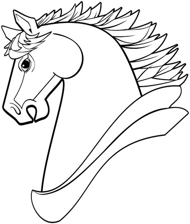 Vector illustration of a classical style horse head profile Vector